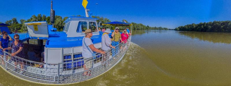 výlet lodí po řece Dráva